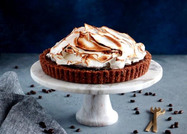 Chocolate Coffee Meringue Pie