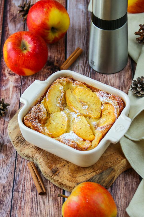 Clafoutis léger, pomme et cannelle