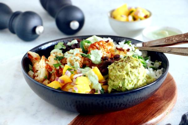 Vegetarian Cauliflower Burrito Bowl