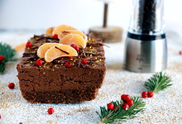 Cake/bûche mousse au chocolat et poivre Timut