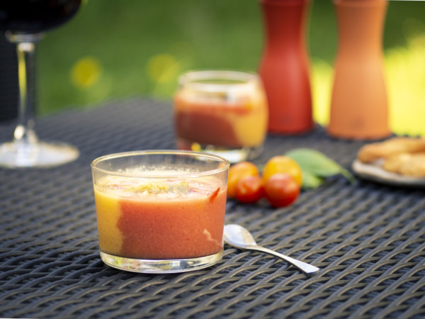 Heirloom Tomato and Bell Pepper Gazpacho