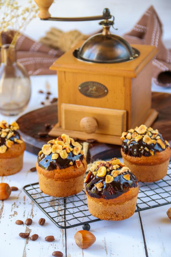 Easy Hazelnut Coffee Muffins