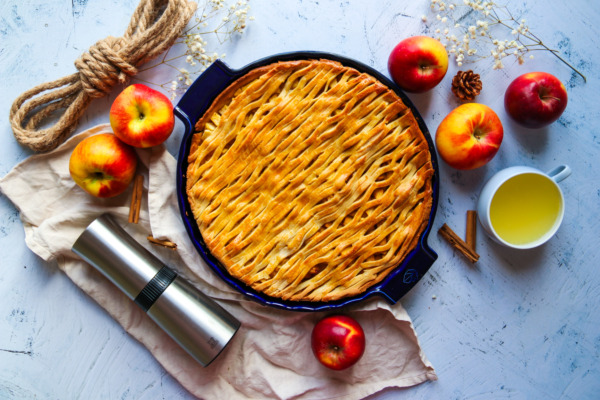 Apple pie without refined sugar or butter