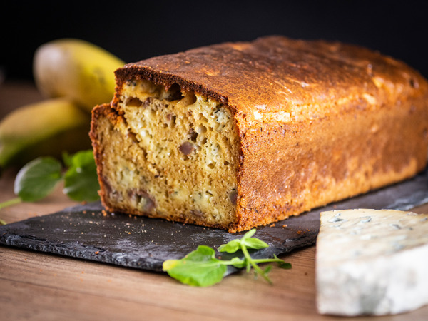 Cake salé Banane Bleu d'Auvergne