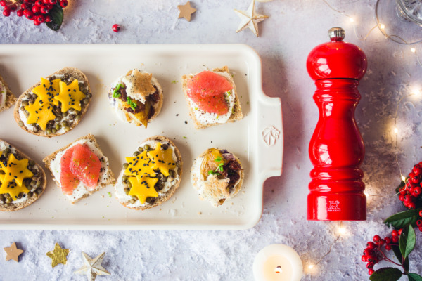 Petit fours with peppers