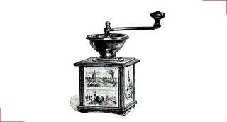First decorated coffee grinder - Peugeot Saveurs